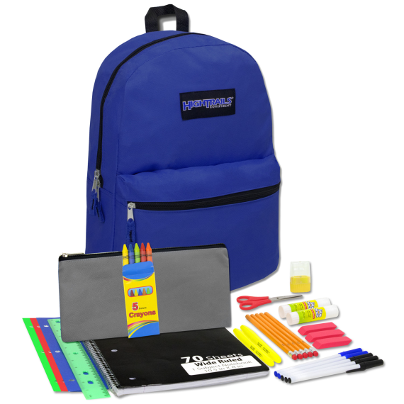 Back Pack & School Supplies Kit- Navy Blue