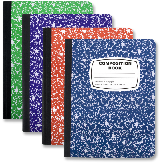 Composition Book - Assorted Colors