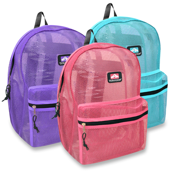 Trailmaker 17 inch Mesh Backpack - Girls