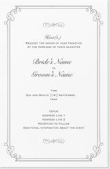 Classic Vertical Flat Invitation - 6X9